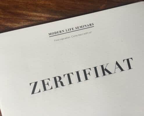 Zertifikat Modern Life Seminars.